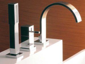 Terlago-16 - Chrome-Badewannen-Aufsatzarmatur