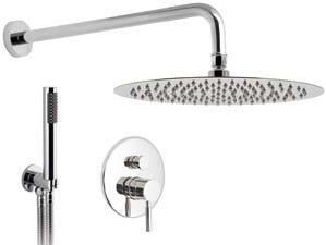 Origins-Rain-Shower - Chrome-Komplett-Unterputz-Dusche