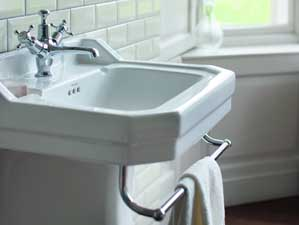 Edwardian 56 Waschbecken Keramik Weiss Glanzend