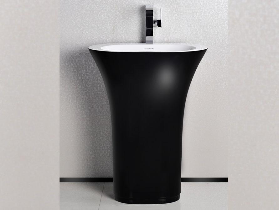 valsecca standbecken mineralguss schwarz weiss seidenmatt. Black Bedroom Furniture Sets. Home Design Ideas