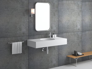 anza waschbecken mineralguss weiss matt oder gl nzend. Black Bedroom Furniture Sets. Home Design Ideas