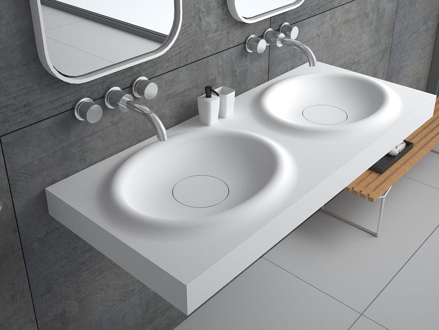 belbo grande waschbecken mineralguss wei matt. Black Bedroom Furniture Sets. Home Design Ideas