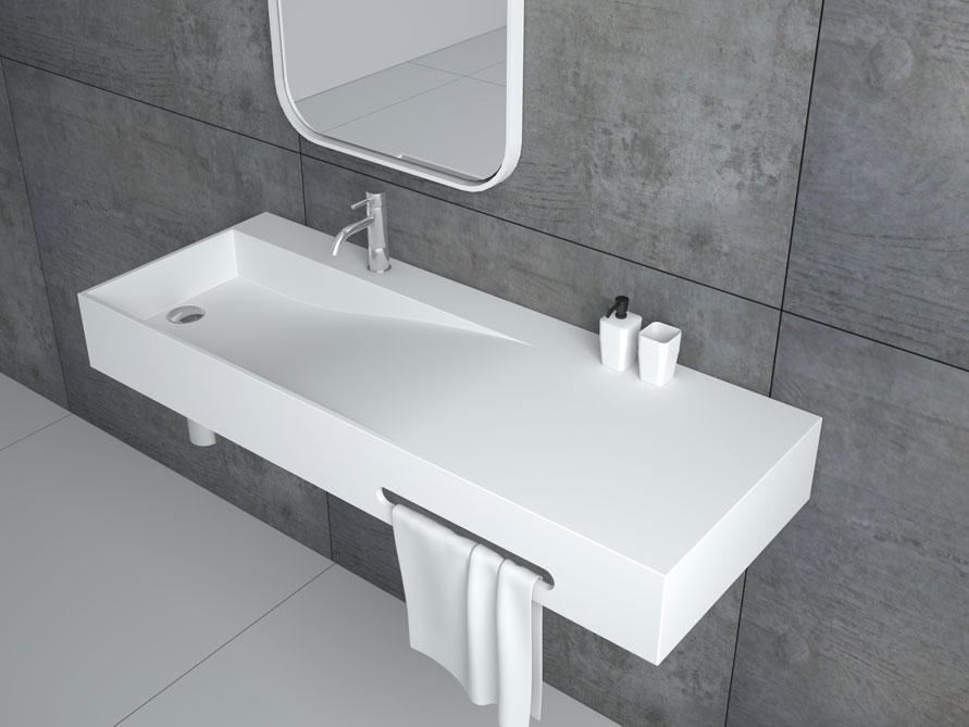 Tanaro waschbecken mineralguss wei matt oder gl nzend for Waschbecken modern gunstig