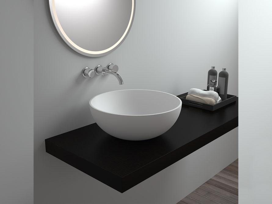 irminio waschtische mineralguss weiss matt oder gl nzend. Black Bedroom Furniture Sets. Home Design Ideas