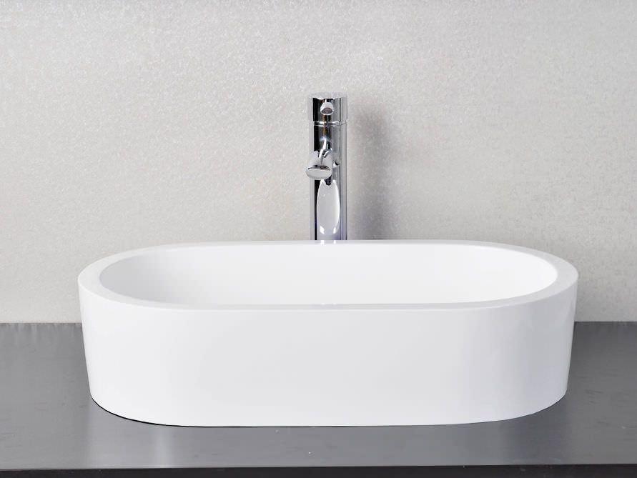 aktion waschtisch aufsatzbecken marano aus mineralguss ebay. Black Bedroom Furniture Sets. Home Design Ideas