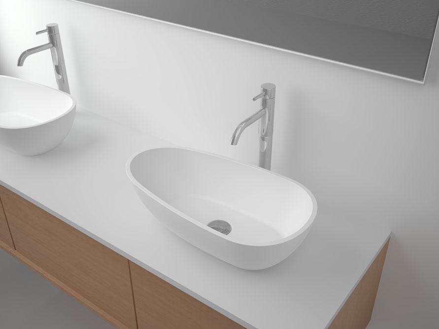 herbstaktion waschtisch aufsatzbecken sonna aus mineralguss ebay. Black Bedroom Furniture Sets. Home Design Ideas