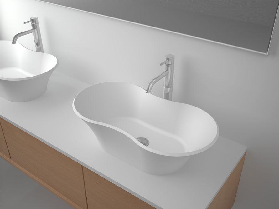 waschtisch aufsatzbecken vomano aus mineralguss ebay. Black Bedroom Furniture Sets. Home Design Ideas
