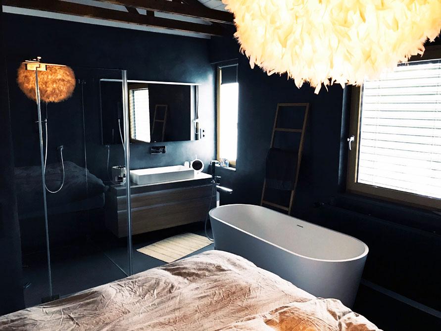 Badezimmer-Idee mit der freistehenden Badewanne Bologna