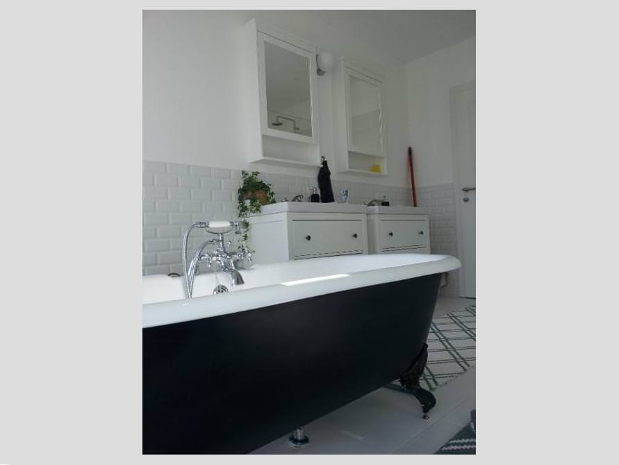 Badezimmer-Idee mit der freistehenden Nostalgie Badewanne Bradford