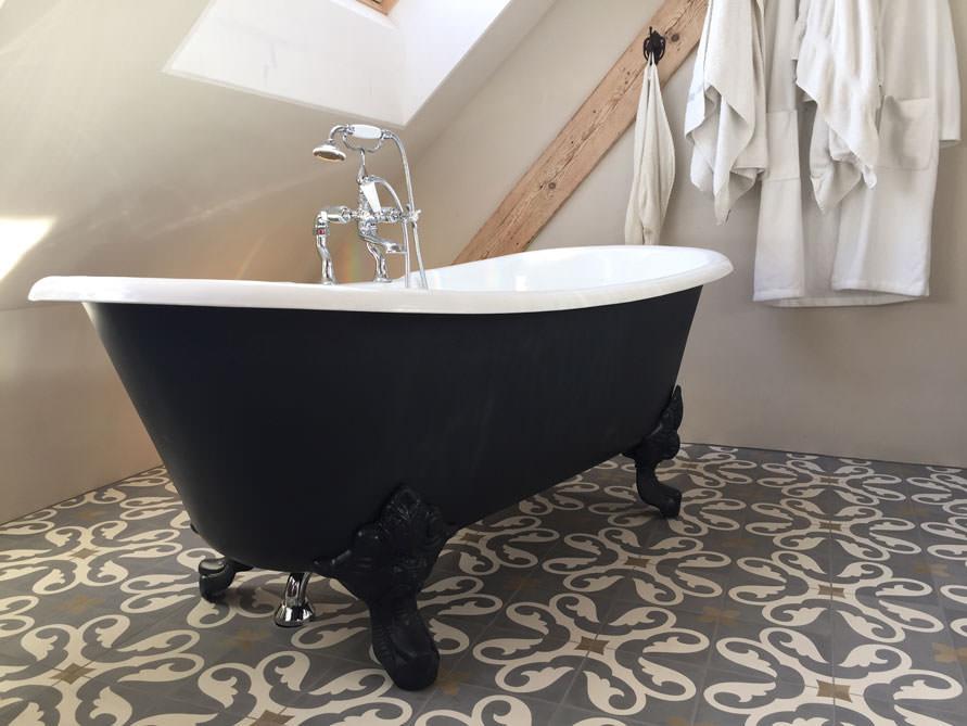 Badezimmer-Idee mit der freistehenden Nostalgie Badewanne Bristol