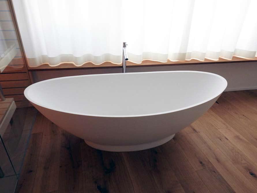 Badezimmer-Idee - Como - freistehenden Badewanne - Material ...