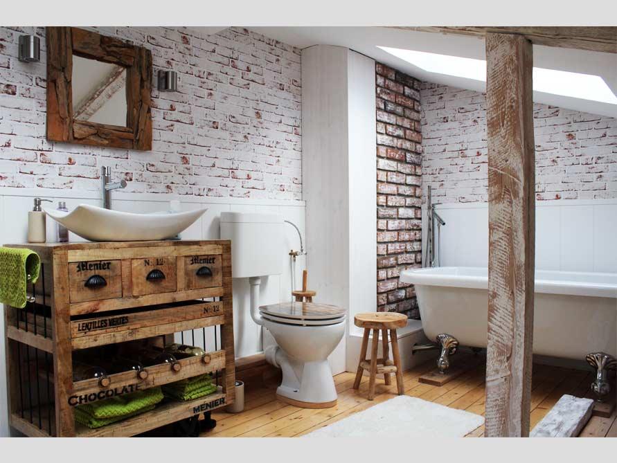 Badezimmer-Ideen mit Freistehende Nostalgie Badewanne Derry aus ...