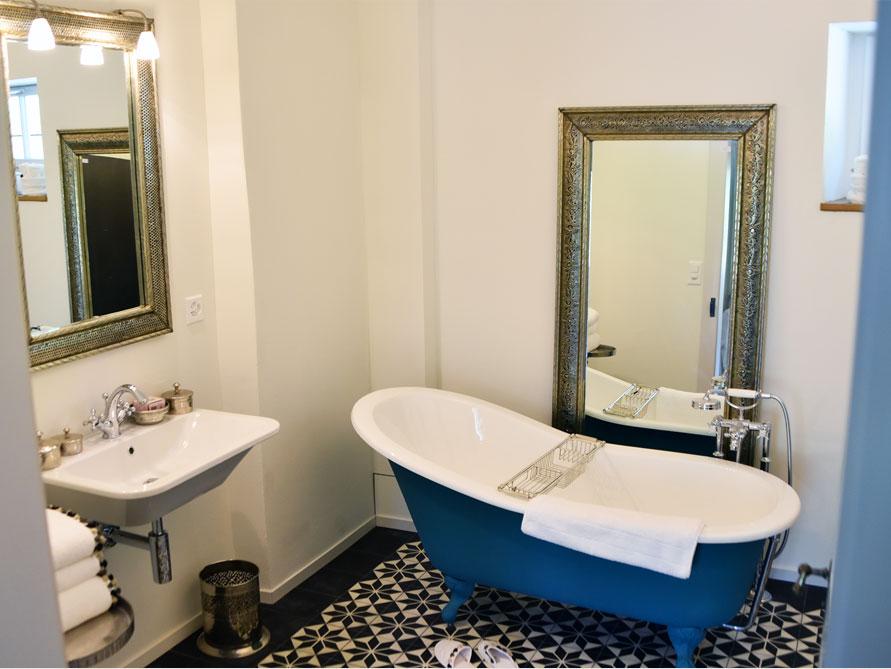 Badezimmer-Idee mit der freistehenden Nostalgie Badewanne Liverpool