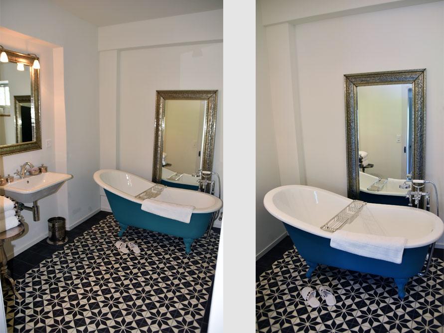 Badezimmer ideen mit freistehende nostalgie badewanne liverpool aus guss - Nostalgie im badezimmer ...