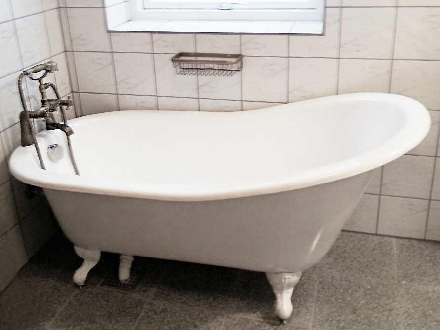Badezimmer-Idee mit der freistehenden Badewanne Liverpool