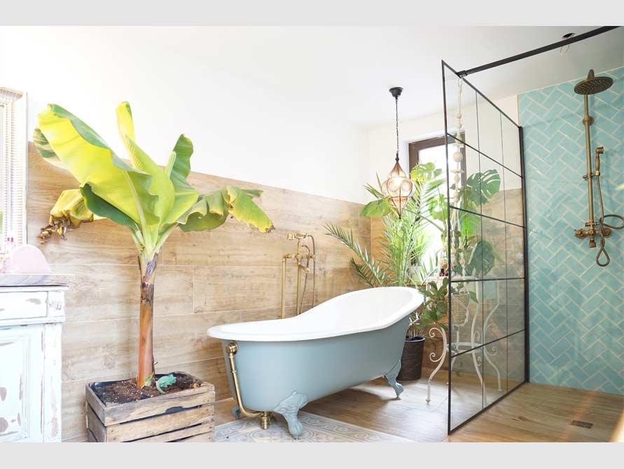 Badezimmer-Idee mit der freistehenden Nostalgie Badewanne Liverpool Big