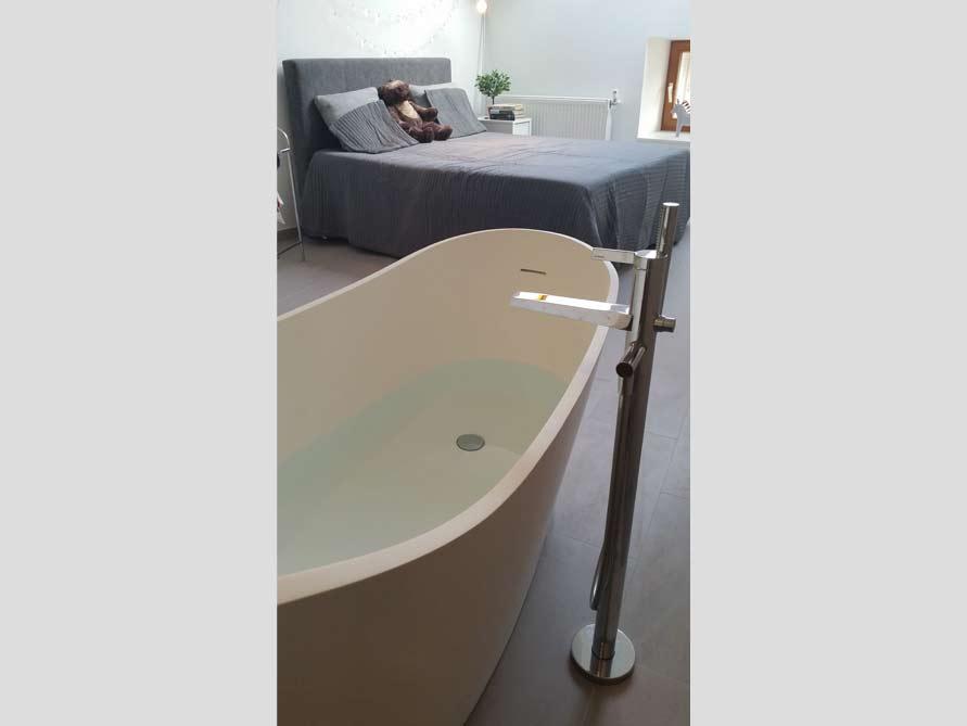 Badezimmer-Idee - Napoli - freistehenden Badewanne ...