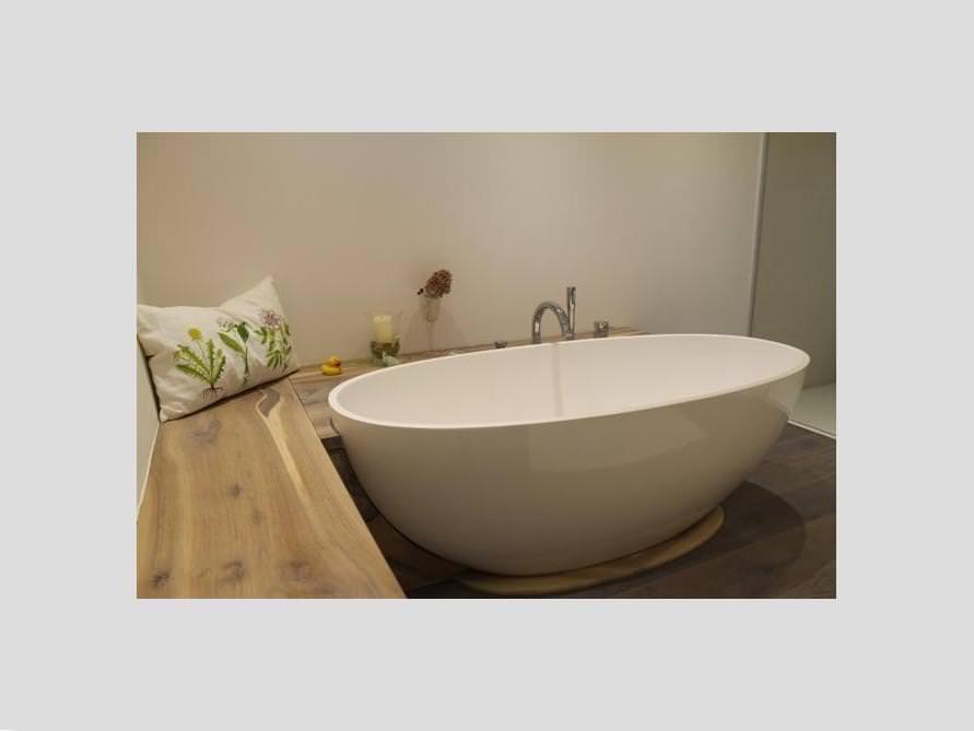 Badezimmer Idee Piemont Freistehenden Badewanne Ablage Weise