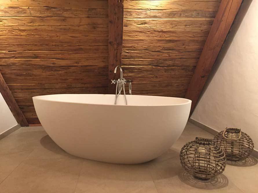 Badezimmer Idee Piemont Freistehenden Badewanne Geltung
