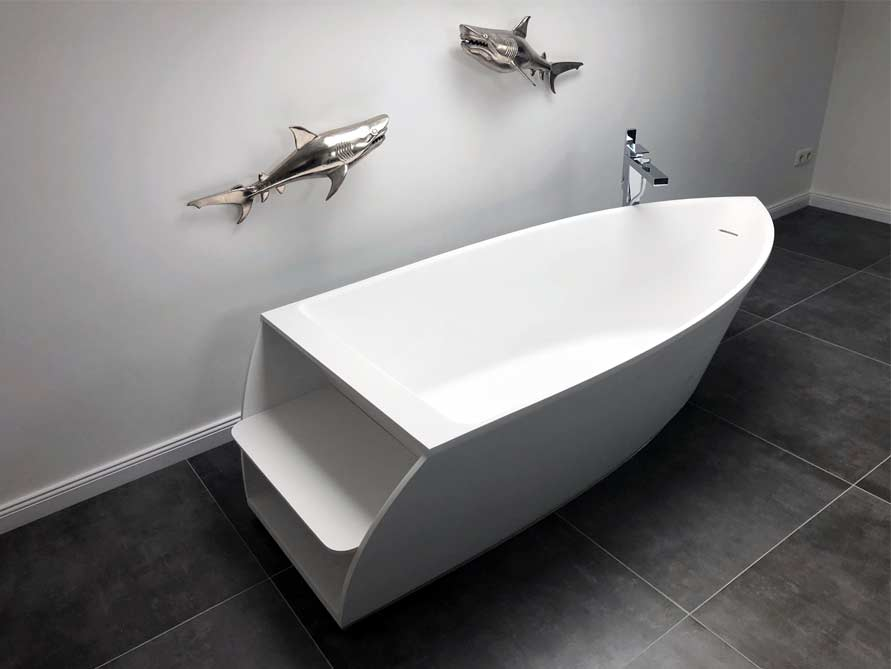 Badezimmer-Idee mit der freistehenden Badewanne Portofino