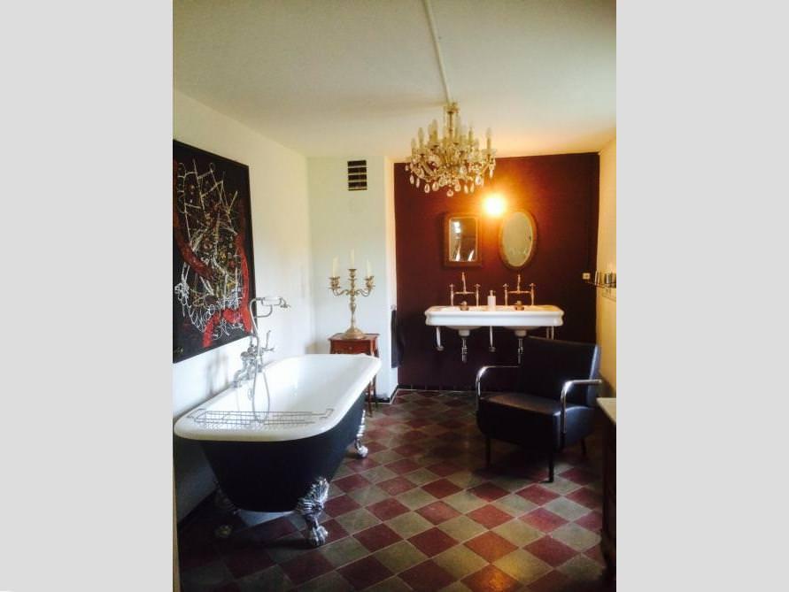 Badezimmer-Idee mit der freistehenden Nostalgie Badewanne Sheffield