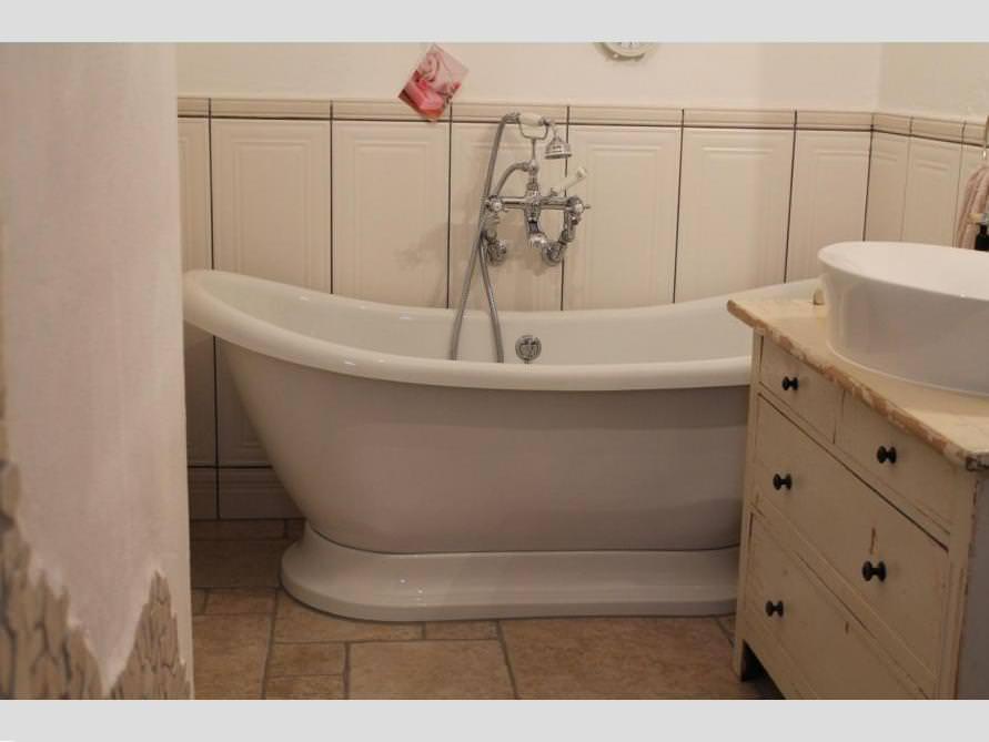 Badezimmer-Idee mit der freistehenden Nostalgie Badewanne Worcester