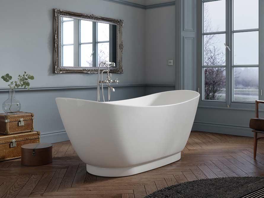 halb freistehende badewanne freistehende badewanne acrylbadewanne freistehend bernstein badshop. Black Bedroom Furniture Sets. Home Design Ideas