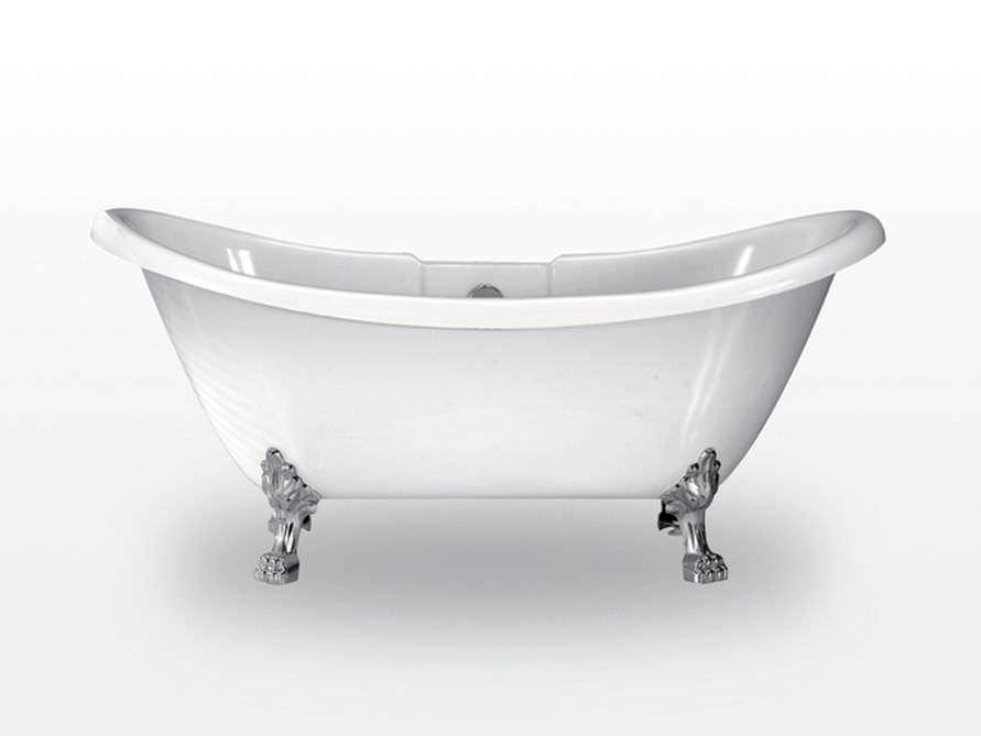 freistehende badewanne worcester aus acryl wei gl nzend 170x70x70 nostalgie duo. Black Bedroom Furniture Sets. Home Design Ideas