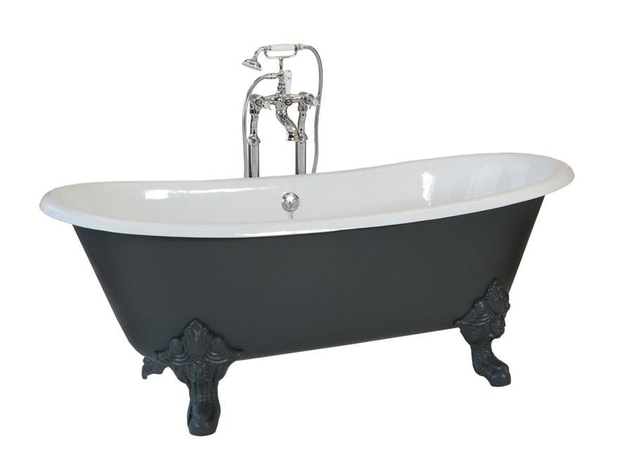 Badewanne  Freistehende Badewanne Bristol aus Guss - weiß - 180x76x69.5 ...