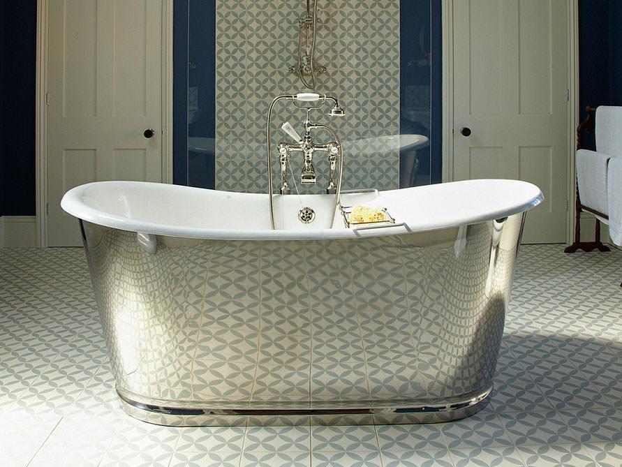 birmingham - freistehende guss-badewanne - weiß - 168x74x74, Hause ideen