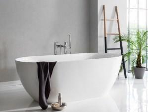 Bari Medio - freistehende mineralguss-Badewanne