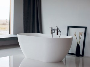 Bari Piccolo - freistehende mineralguss-Badewanne