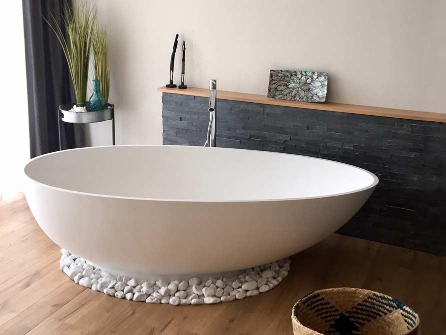 freistehende badewanne mineralguss acryl nostalgie. Black Bedroom Furniture Sets. Home Design Ideas