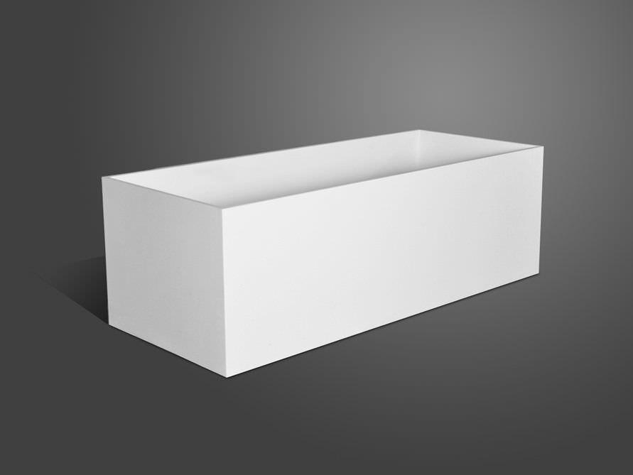 Freistehende Badewanne Firenze von Bädermax - Mineralguss-Badewanne | {Freistehende badewanne eckig 89}