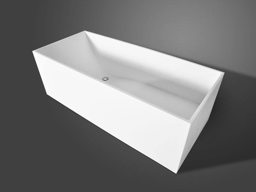 Freistehende badewanne eckig  Freistehende Badewanne Firenze von Bädermax - Mineralguss ...