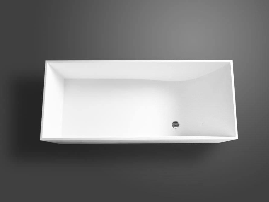 Freistehende Badewanne Firenze von Bädermax - Mineralguss-Badewanne | {Freistehende badewanne eckig mineralguss 92}