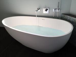 Luino - freistehende mineralguss-Badewanne