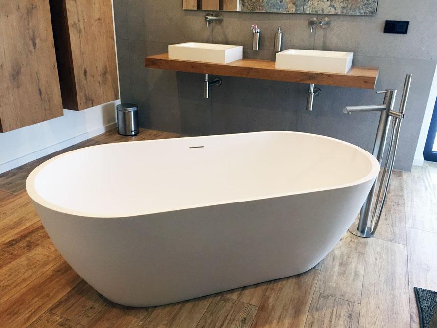 montecristo freistehende mineralguss badewanne wei. Black Bedroom Furniture Sets. Home Design Ideas