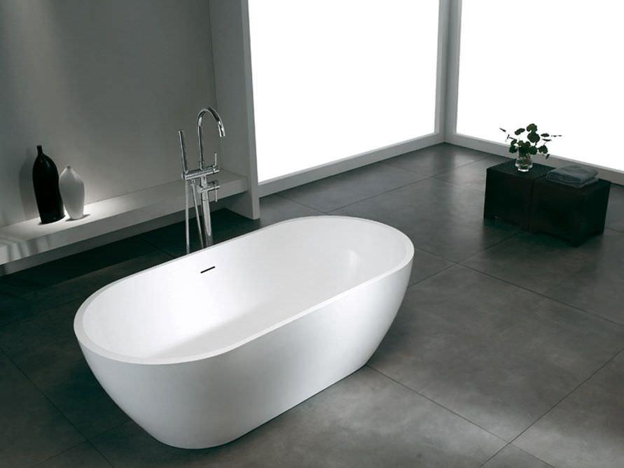 Freistehende badewanne mineralguss  Freistehende Badewanne Montecristo von Bädermax - Mineralguss ...