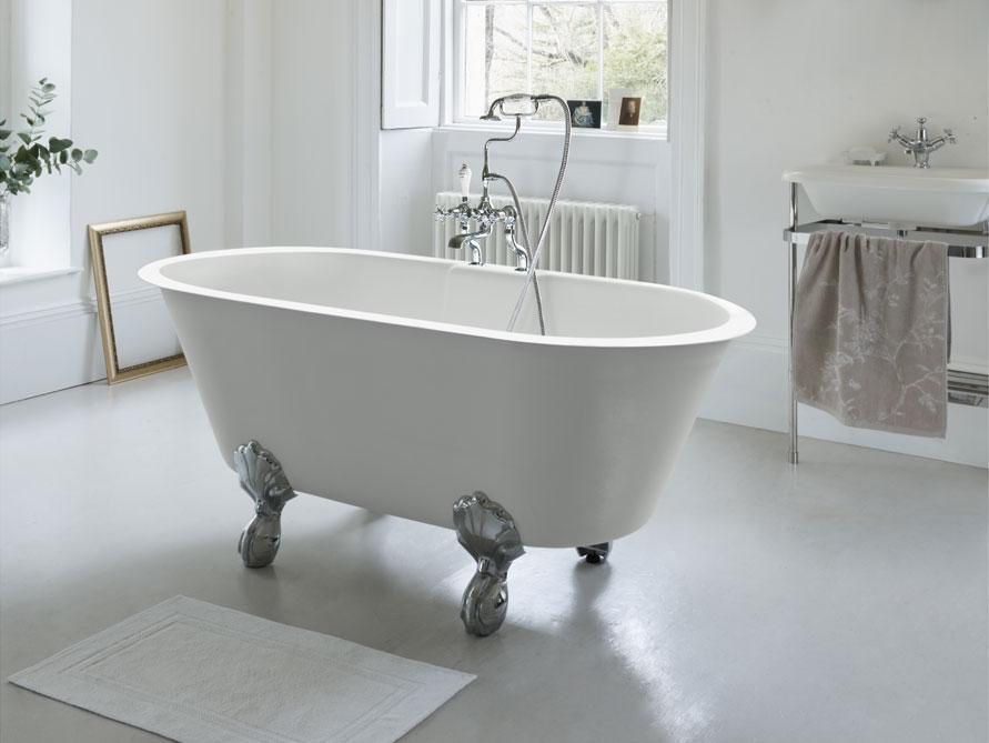 newport freistehende mineralguss badewanne wei. Black Bedroom Furniture Sets. Home Design Ideas