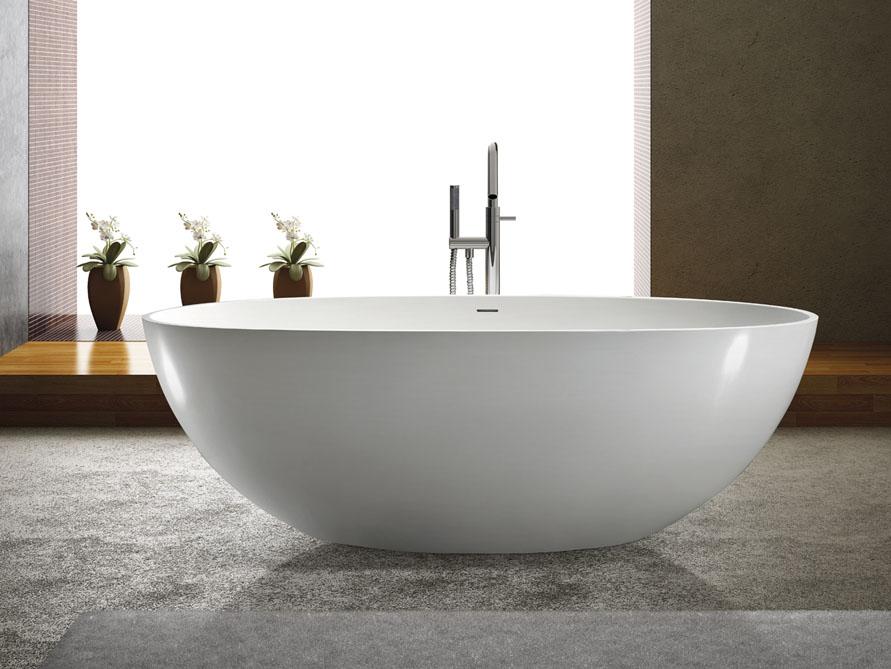 piemont freistehende mineralguss badewanne wei matt. Black Bedroom Furniture Sets. Home Design Ideas