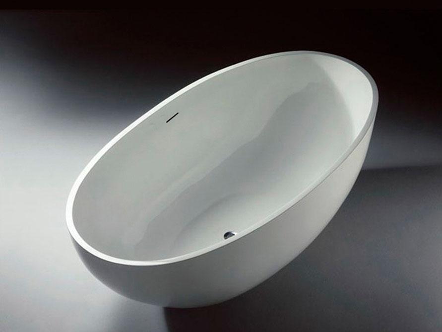 freistehende badewanne piemont aus mineralguss wei matt. Black Bedroom Furniture Sets. Home Design Ideas
