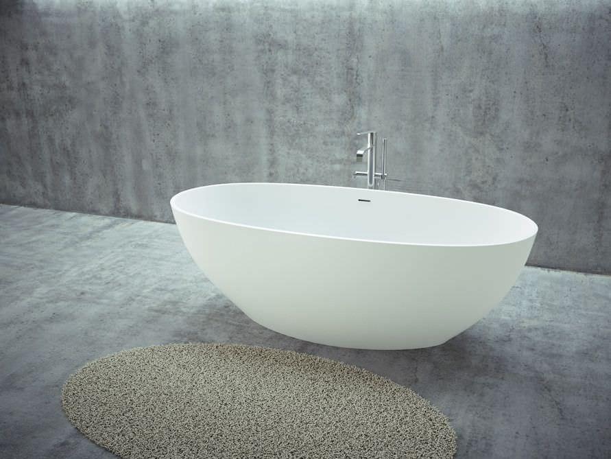 Freistehende badewanne mineralguss oder acryl  Freistehende Badewannen - Mineralguss Badewannen - Nostalgie ...