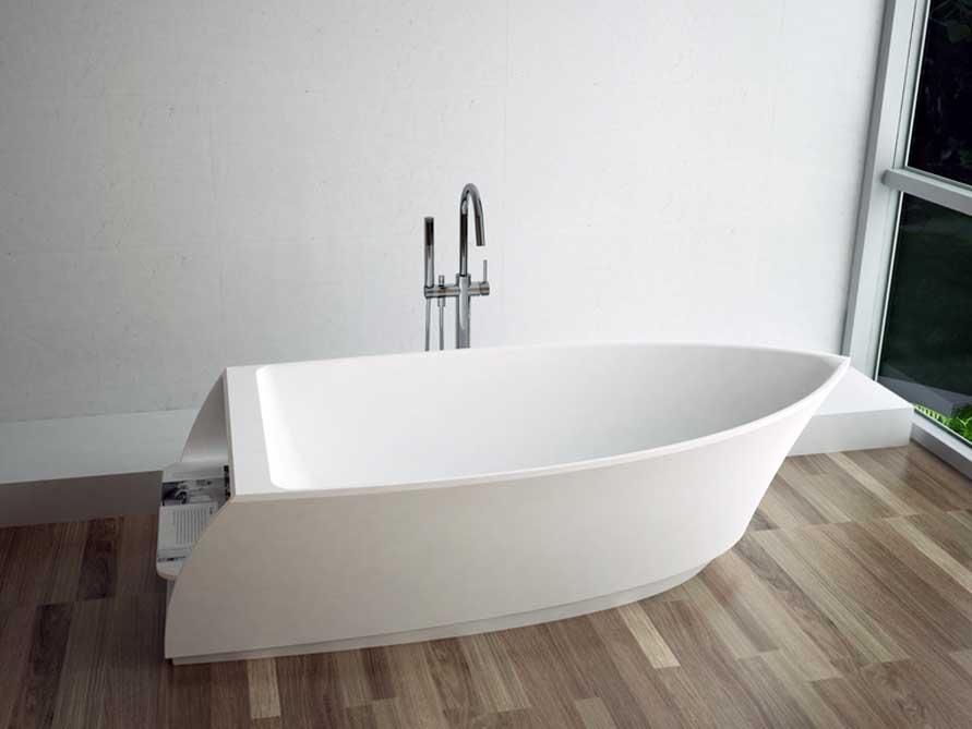 freistehende badewanne portofino aus mineralguss wei matt oder gl nzend 195x88x55 modern. Black Bedroom Furniture Sets. Home Design Ideas