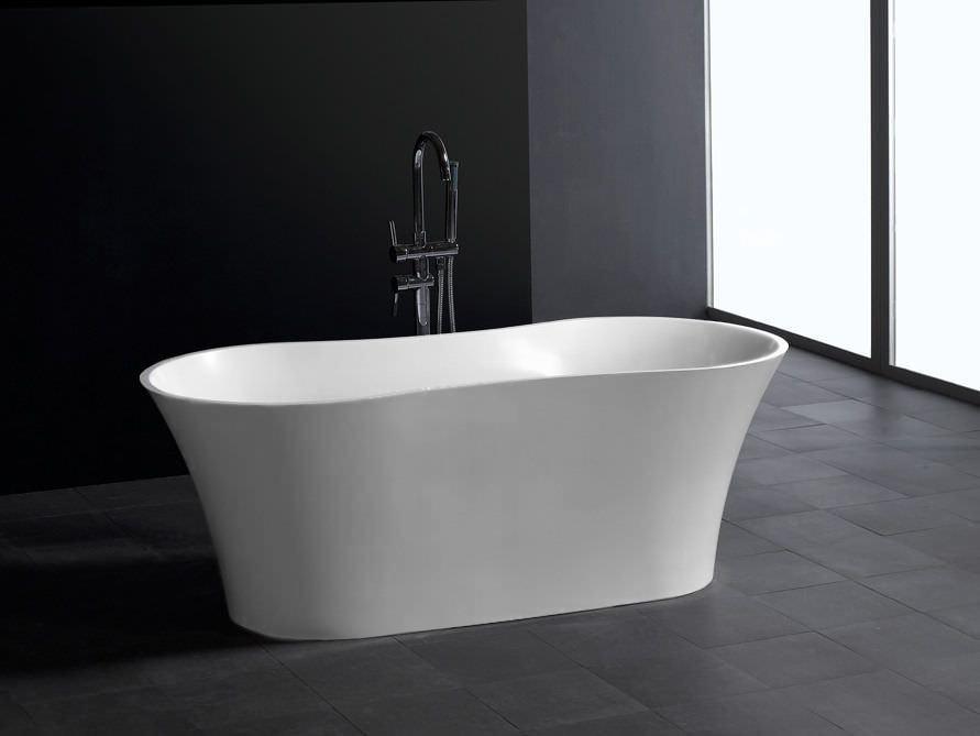 freistehende badewanne selina aus mineralguss wei matt. Black Bedroom Furniture Sets. Home Design Ideas