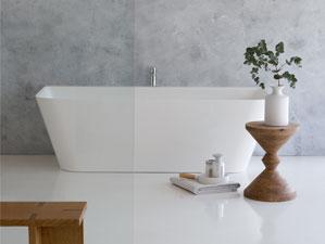 Torino - freistehende mineralguss-Badewanne
