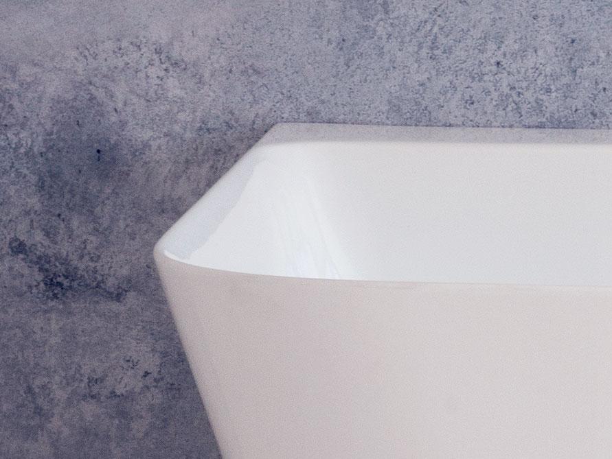 Freistehende Mineralguss Badewanne Torino