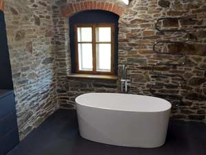 Varese - freistehende mineralguss-Badewanne