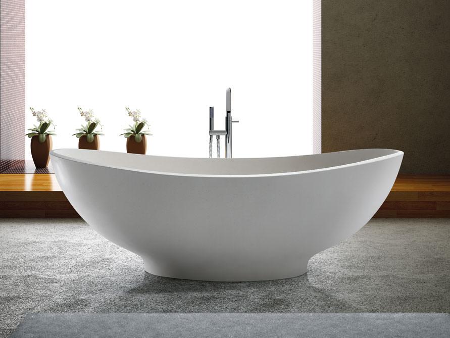 Freistehende badewanne 2 personen  Freistehende Badewanne Vicenza von Bädermax - Mineralguss-Badewanne ...